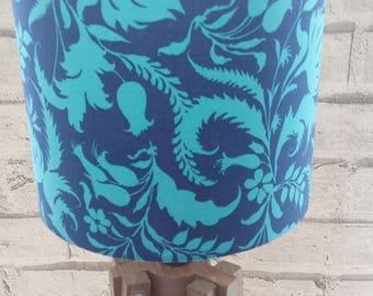 Blue Print Lampshade