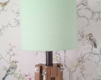 Green Spotty Lampshade