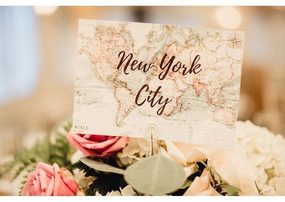 Wedding Table Names Travel Wedding Decor Destination Etsy