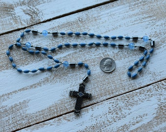 Handcrafted, beaded Rosary