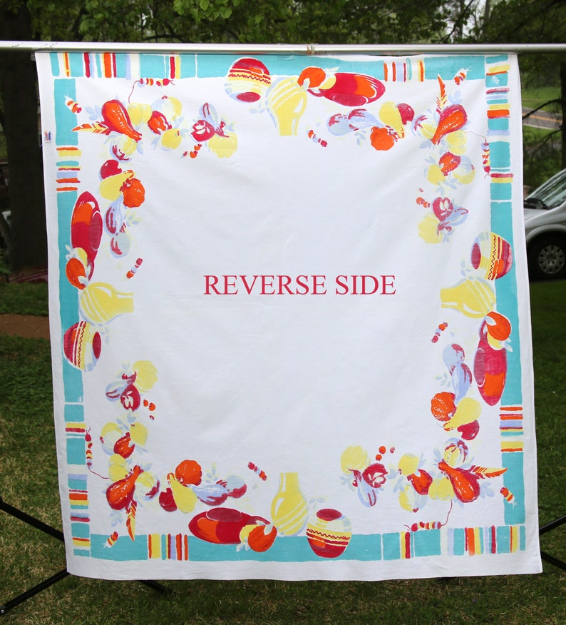 Vintage Wilendur Tablecloth Southwestern Theme