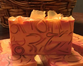 Bergamot & Orange Soap- Glycerin Soap, Handmade Soap, Handcrafted Soap