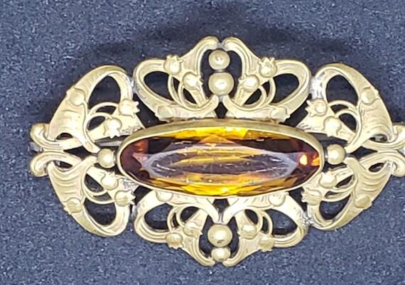Antique Art Nouveau  Brooch - image 3