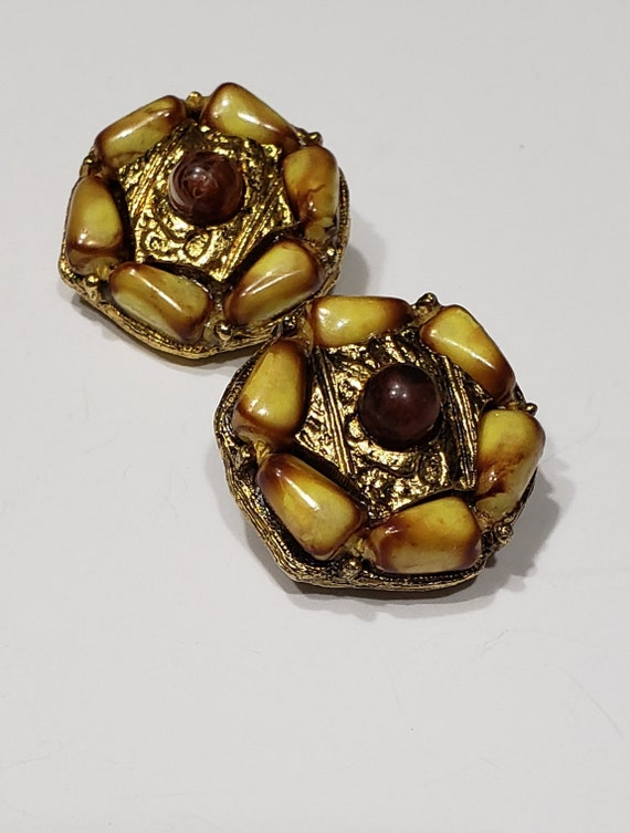 50's/60's Signed SELINI Clip-On Earrings