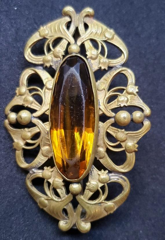 Antique Art Nouveau  Brooch - image 2