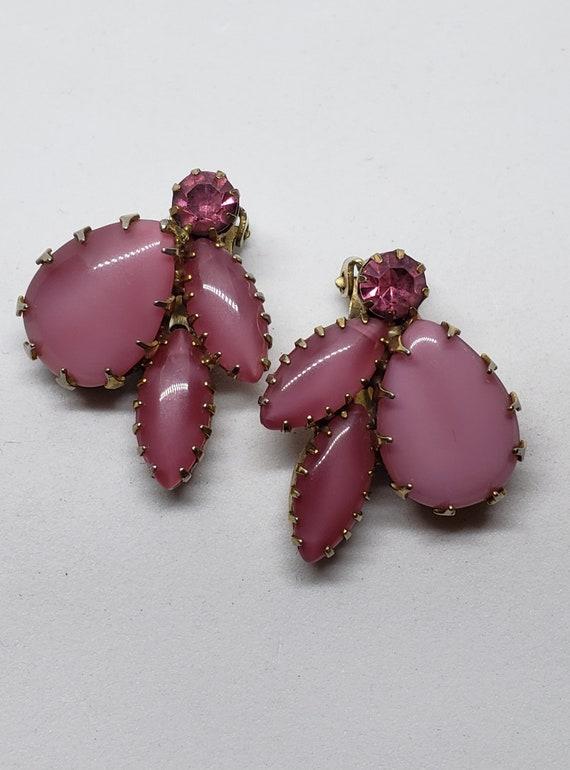 Pretty In Pink Clip-On Earrings 50's/60's