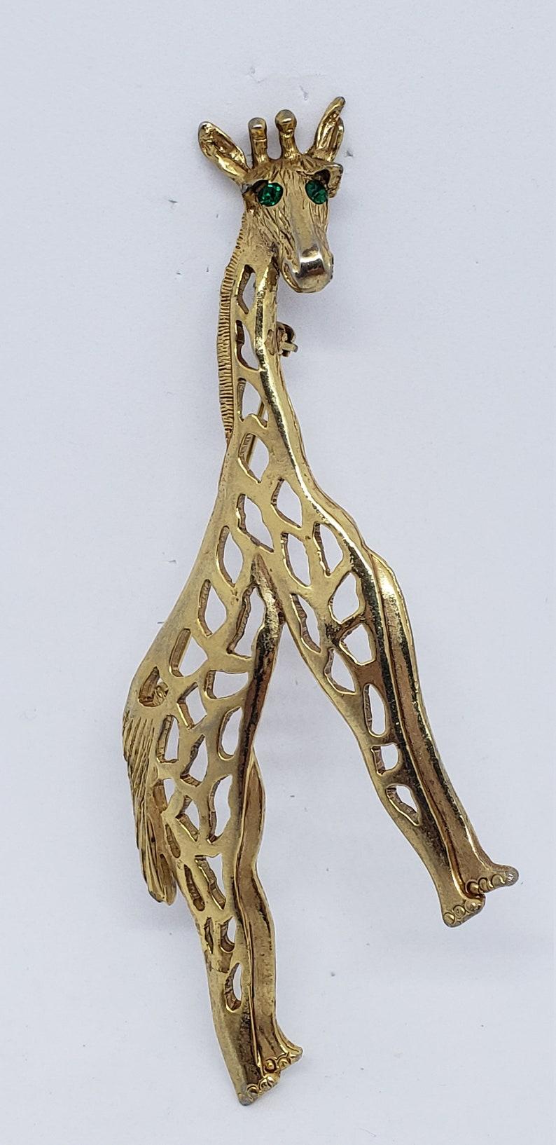 Vintage Large Golden Giraffe Brooch