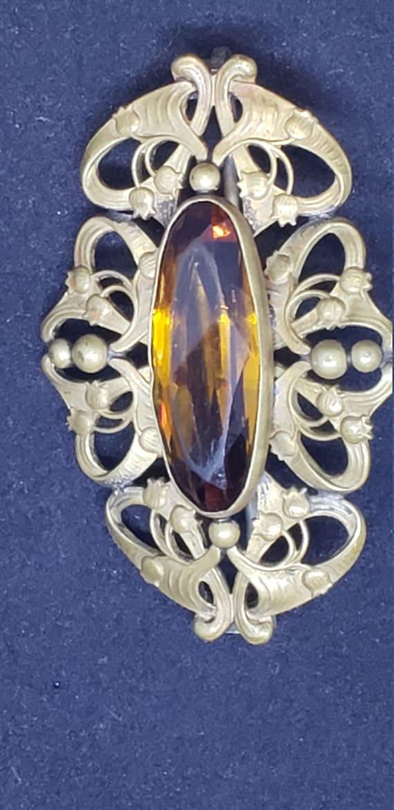 Antique Art Nouveau  Brooch - image 5