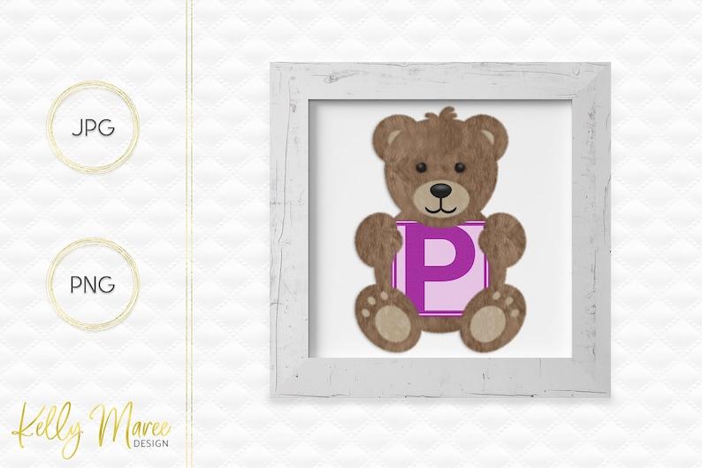 Letter P Bear Clipart  Alphabet Graphics  Teddy Bear Graphic image 0