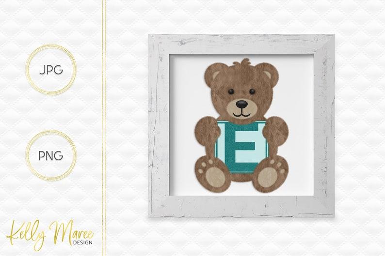 Letter E Bear Clipart  Alphabet Graphics  Teddy Bear Graphic image 0