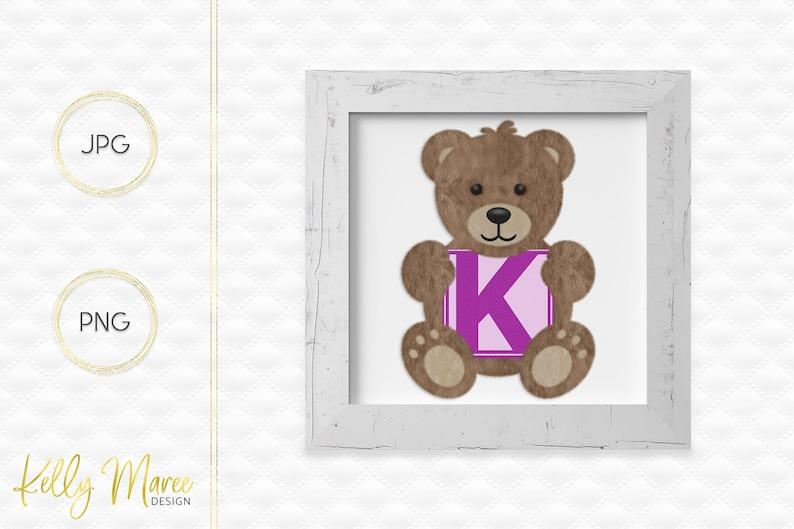 Letter K Bear Clipart  Alphabet Graphics  Teddy Bear Graphic image 0