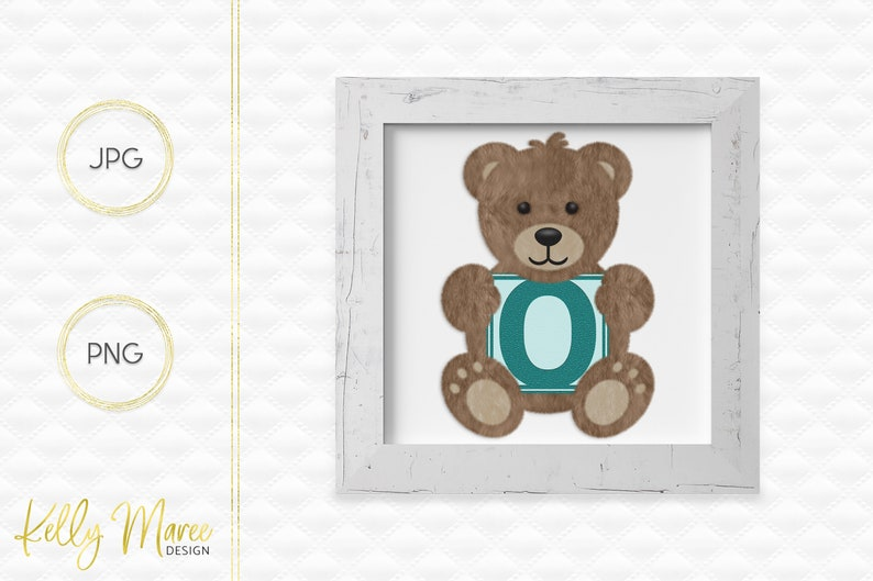 Letter O Bear Clipart  Alphabet Graphics  Teddy Bear Graphic image 0