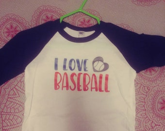 I love Baseball 3-6 month long sleeve shirt