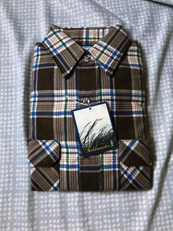80's M Flannel / Brown Flannel / Brown Plaid Flann