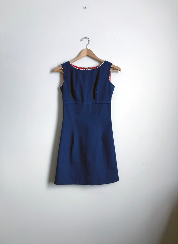 Mod Mini Dress / Blue Mod Mini Dress / Handmade Mo