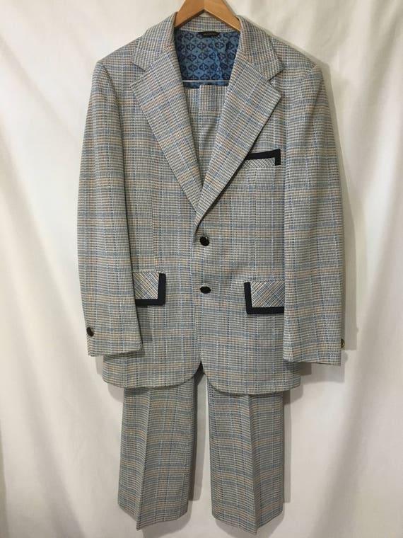 60's Men's 30R Funky Two-Piece Towncraft Suit w/ T