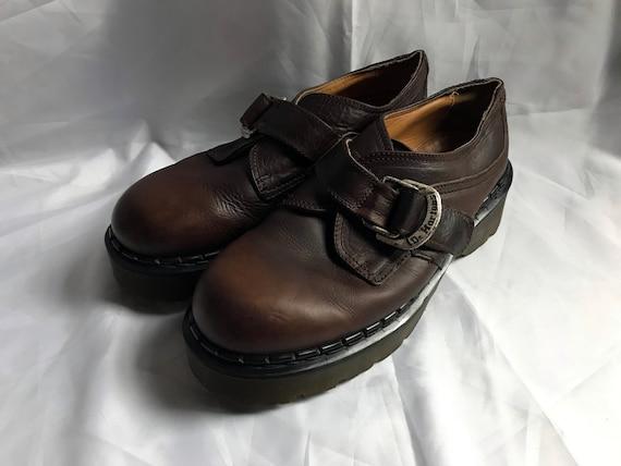 Brown Platform Dr. Martens / Brown Monk Strap Dr.
