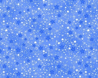 Blue Star Flannel Fabric - Comfy Flannel - A.E. Nathan