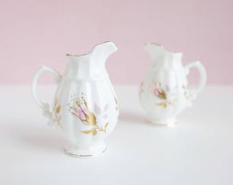 Set of Two Miniature Jars // Healacraft // Fine Bone China // Made in England