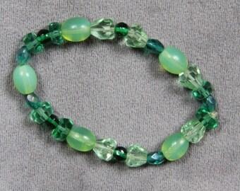Vintage Glass and Crystal Bracelet