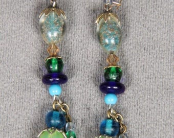 Vintage Glass and Stone Earrings