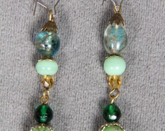 Vintage Glass and Natural Stone