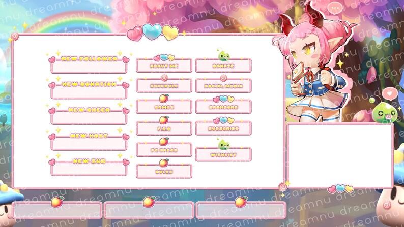 MAPLESTORY 2 - Peach Rainbow | Twitch Stream Overlay Pack