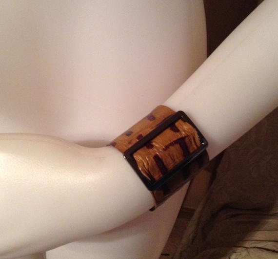 Croc leather bracelet