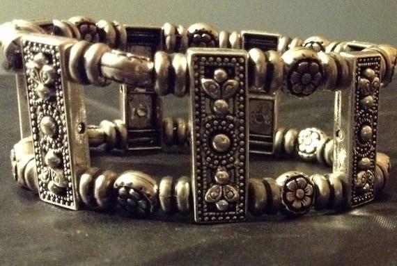 Silver, beaded bracelet