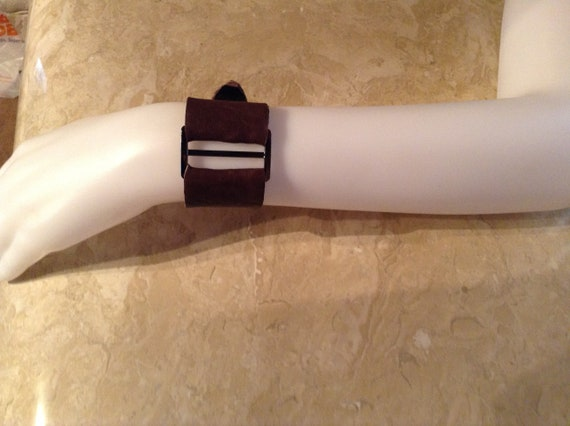 Yevonne, leather cuff bracelet
