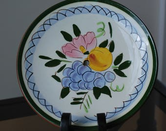 """Stangl Fruit and Flowers 6"""" Top Tier Tidbit Plate - #4030 - Mid Century Dinnerware Replacement Part"""