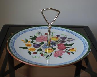 "Stangl Fruit and Flowers 10"" Tidbit Tray - #4030 - Mid Century Dinnerware"