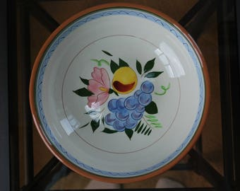"""Stangl Fruit and Flowers 8"""" Serving Bowl - #4030 - Mid Century Dinnerware"""