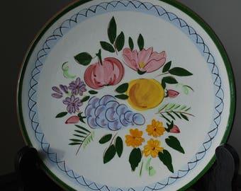 "Stangl Fruit and Flowers- 8"" Plate - #4030 - Mid Century Dinnerware"