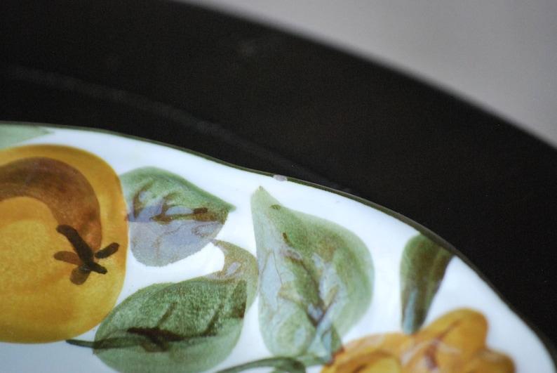Stangl Sculptured Fruit  14 12 Oval Tidbit Tray