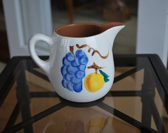Stangl Fruit Three Cup Pitcher - #3697 - Vintage Dinnerware Mid-Century - Art pottery