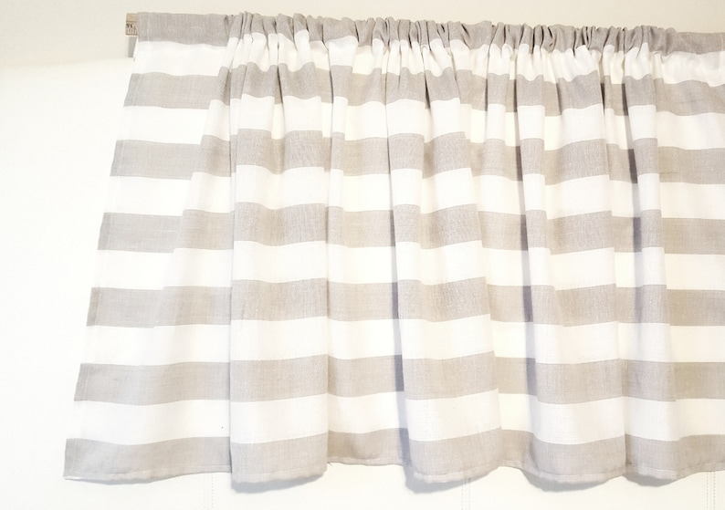 Awesome Valance For Kitchen Cafe Curtains Kitchen Curtains Linen Curtains Beige Curtains Gray Curtains Farmhouse Curtains Striped Curtains Home Interior And Landscaping Palasignezvosmurscom