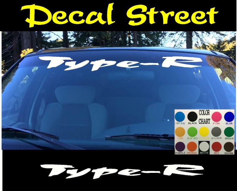 Honda Civic Windshield Window Banner Ver 3 Vinyl Decal Accessory Sticker