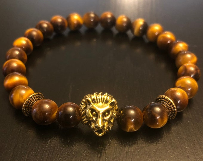 Lion's Head Tiger Eye bracelet