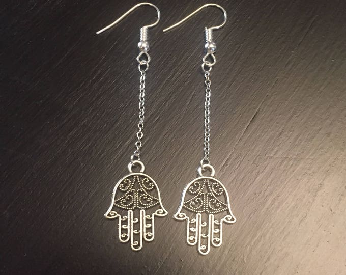 Hamsa Hand Drop Earrings