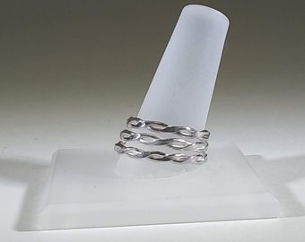 Sterling Silver Twisted Wire Ring