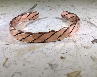 Twisted Copper Wrist Cuff