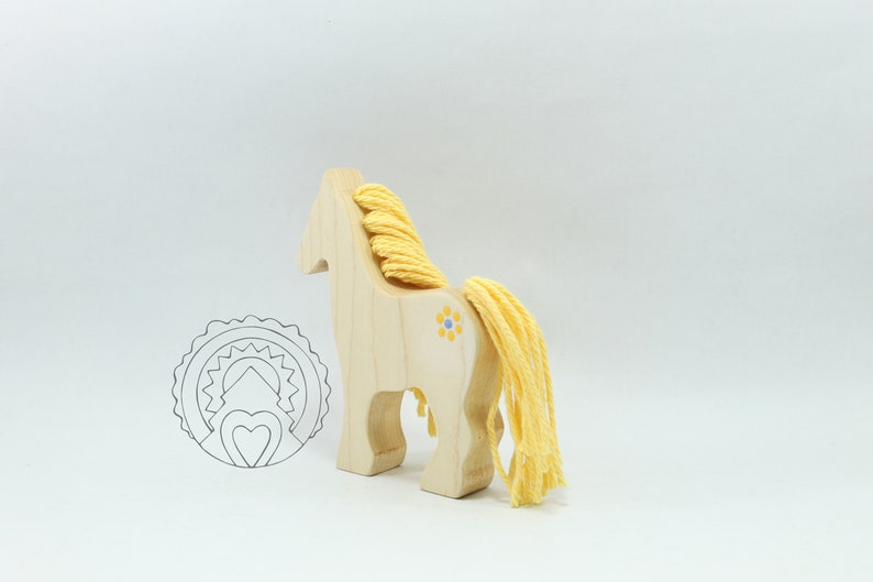 WILDFLOWER PONY Wooden Pony AMBER Wooden Horse Wooden Toy