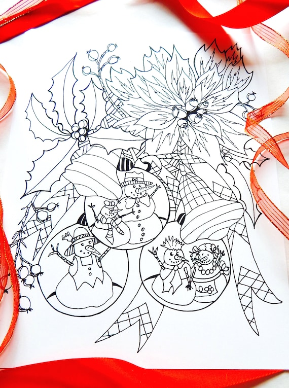 Coloring Page Adult Coloring Page Instant Download Pdf Etsy