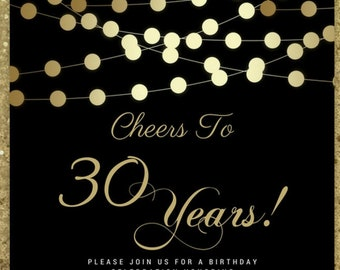 cheers to 30 years invitation etsy