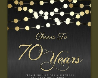 70th birthday invite etsy any age cheers to 70 years invitations 70th birthday invitations 70th birthday invitation man 70th birthday invitations for women male filmwisefo