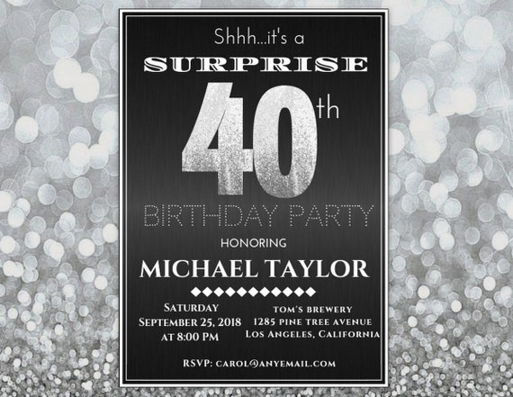 Any age surprise birthday invitation for men surprise 40th birthday il570xn filmwisefo
