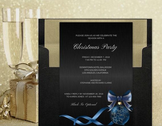 elegant christmas party invitations holiday party invitations