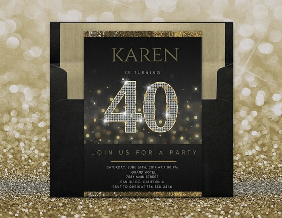 40th Birthday Invitation For Women 40th Birthday Invites For Women