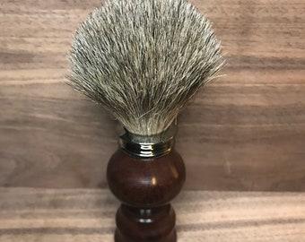 Premium Badger Shaving Brush, Katalox Wood Handle